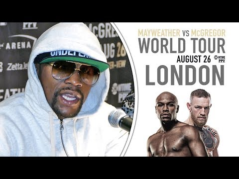 Floyd Mayweather FULL LONDON PRESS CONFERENCE vs Conor McGregor