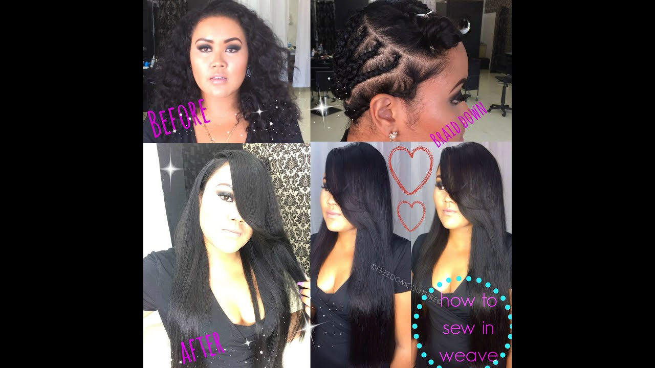 hairstyles with one short side : ... to Install 3 Bundles for a Leave out weave,Deep Side part - YouTube