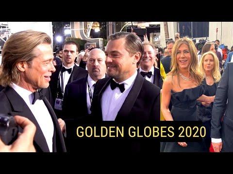 LEO, BRAD & JENNIFER Hugging It Out On RED CARPET - Up Personal Golden Globes 2020