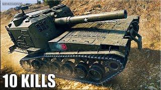 Шикарная ПОЗИЦИЯ для АРТЫ 🌟 10 ФРАГОВ на арте M53/M55 World of Tanks лучший бой САУ США