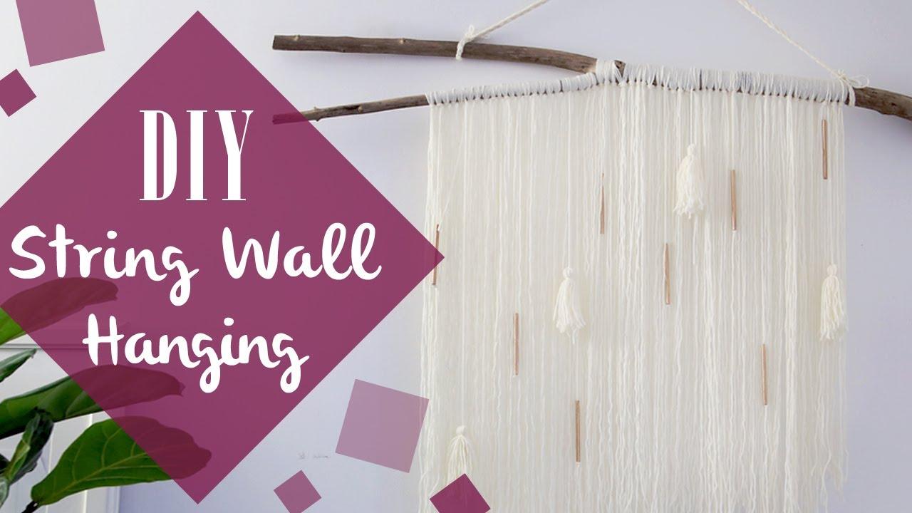 DIY String wall hanging decor - YouTube