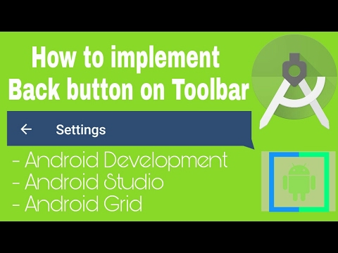 How To Implement Back Button On Toolbar Android Studio Android