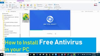 How to Download Install Free Antivirus in windows 10