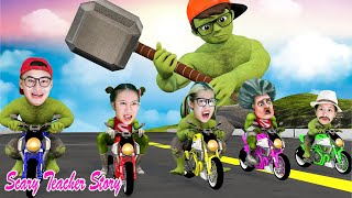 Nick Superheroes & Giant Miss T VS Crazy Zombie Rescue Tani | Scary Teacher 3D In Real Life