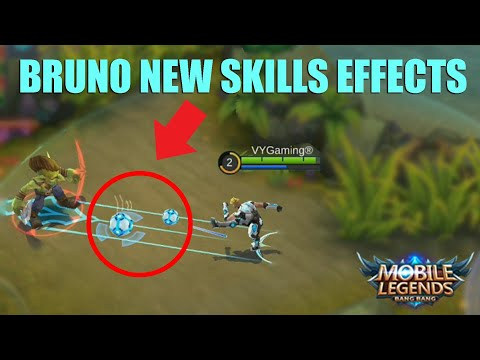 BRUNO BATTLE EFFECTS Changes Review and Gameplay - Mobile Legends