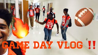 GAME DAY VLOG || HIGH SCHOOL FOOTBALL 🏈🔥