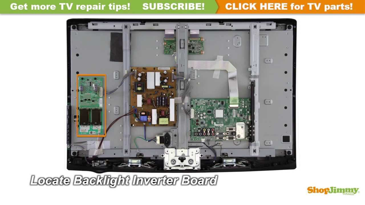 lcd tv repair tutorial how to replace the backlight inverter board in lg philips lcd tvs youtube [ 1280 x 720 Pixel ]