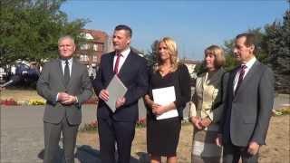 Konferencja prasowa prezentująca kandydatów Wielkopolskiego PSL w wyborach parlamentarnych z okręgu