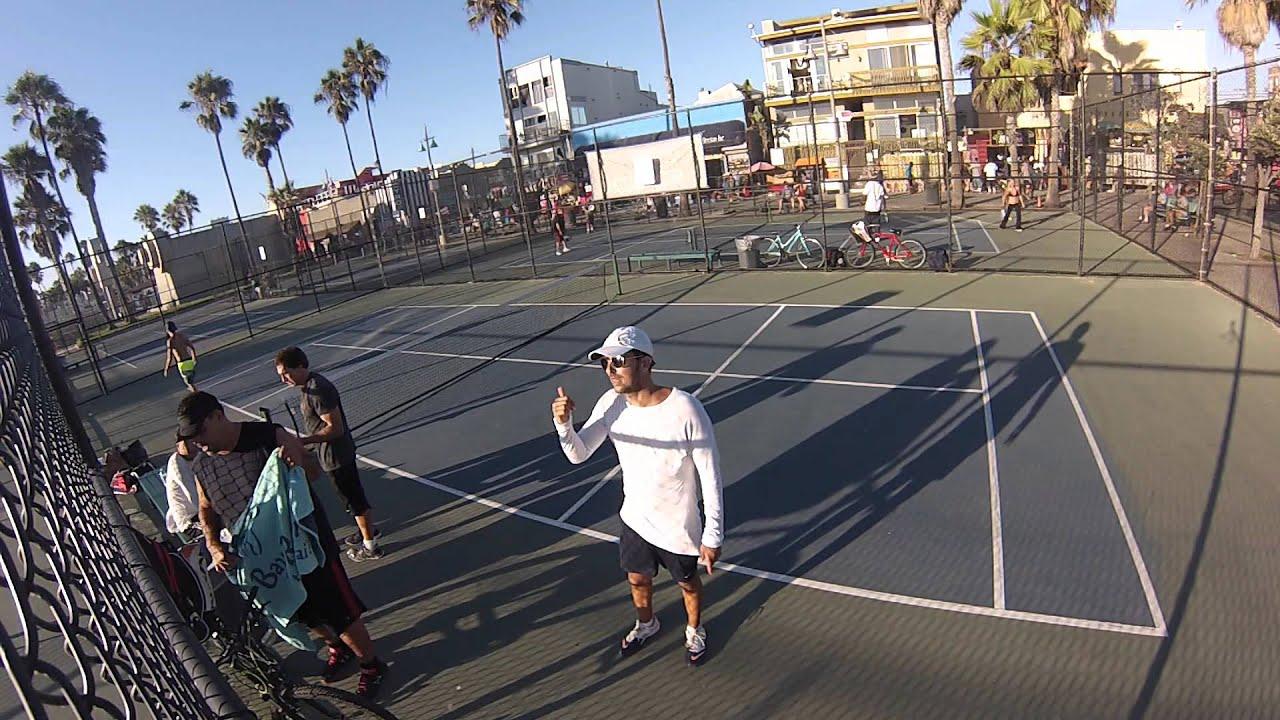 Paddle Tennis Venice beach 9/19/15 #3 - YouTube