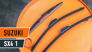 Replacing Wiper Blades yourself video instruction on SUZUKI SX4
