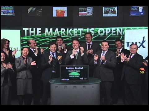 Casimir Capital Ltd. opens Toronto Stock Exchange, January 13, 2011.