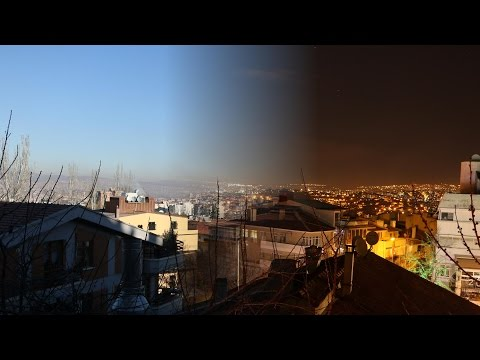 New Years Day timelapse of Ankara, Turkey