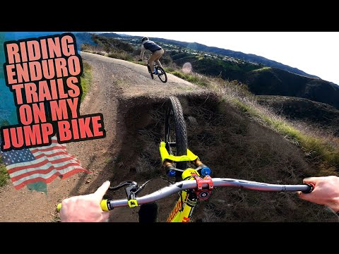 RIDING MTB ENDURO TRAILS ON MY JUMP BIKE AND VENICE BEACH CRAZINESS!