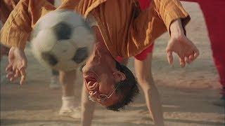 """Первый матч шаолиньской команды! -  """"Убойный футбол"""" отрывок из фильма"""