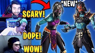 "Streamers React to *NEW* ""Shaman"" & ""Nightwitch"" Skins! *EPIC* 