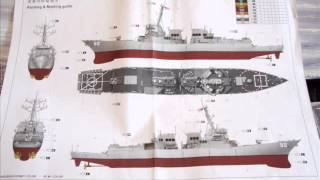 Trumpeter 1:350 Arleigh Burke Class DDG USS Momsen Model Kit Review Instructions Parts Commentary