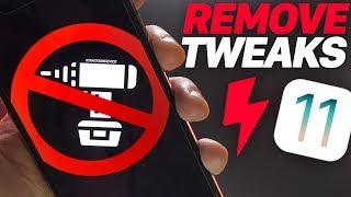 jailbreak iOS 11: Remove ALL Tweaks & Packages (iOS 11 Semi Restore)