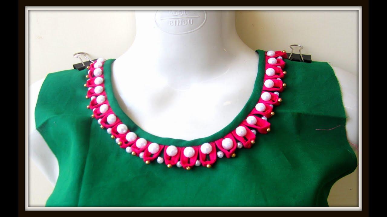 pearl loop neckline for kurtis salwar kameez blouses