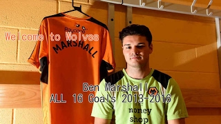 Ben Marshall ALL 16 Goals 2013-2016 | Welcome to Wolves FC!
