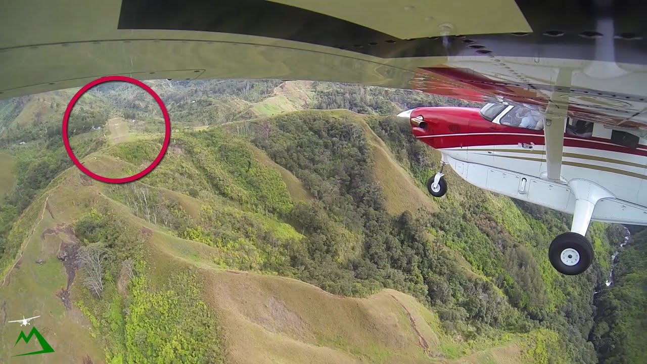 Landing a Small Airplane on the Side of a Mountain | Bush Pilot Flight Vog