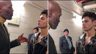 (EPIC) RYAN GARCIA GETS HUMBLING SPEECH FROM BERNARD HOPKINS