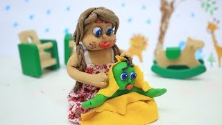 PRINCESS BABY NEW BORN BATHING - Superhero Stop Motion Cartoons For Kids