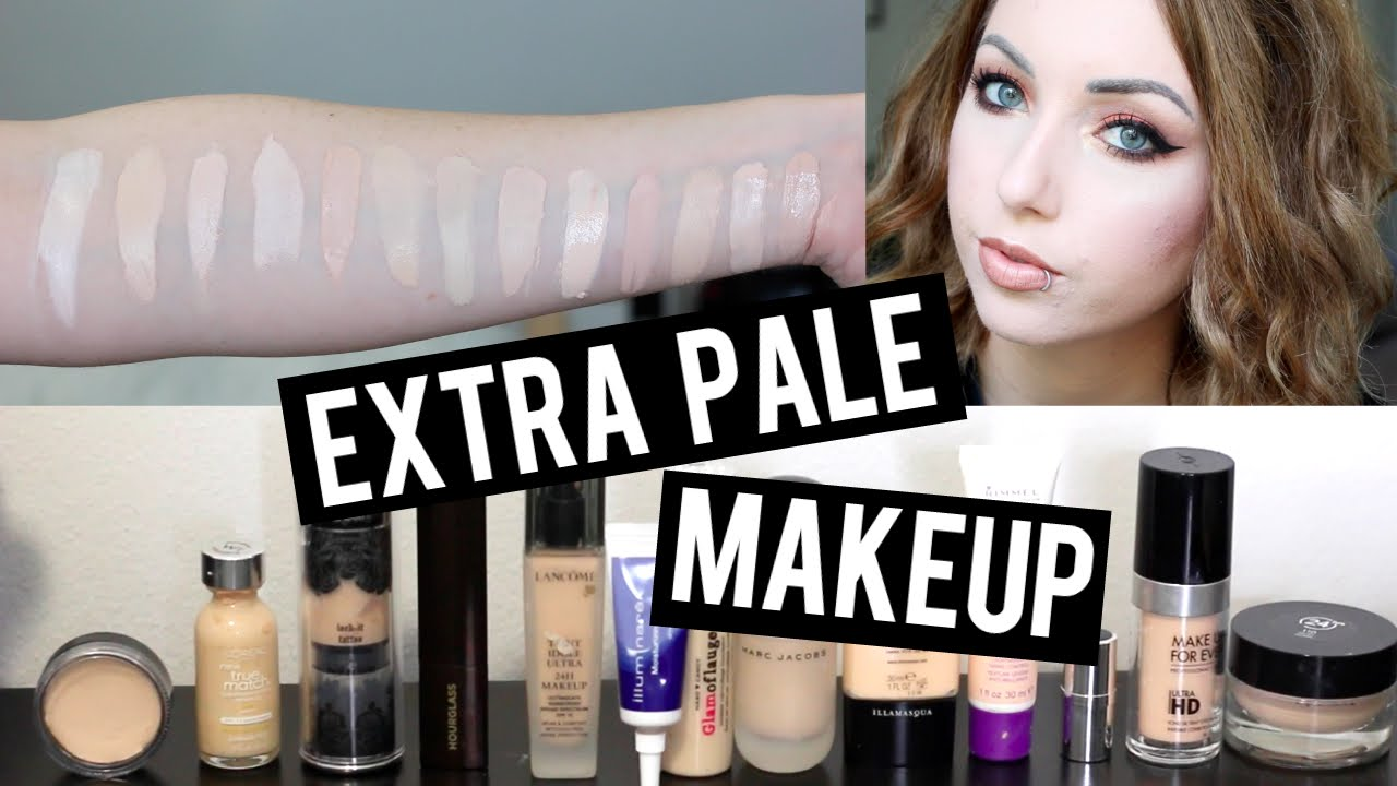 13 Foundations For Super Pale Very Fair Skin Amp Swatches