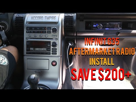 How To Install Aftermarket Radio On Infiniti G35 Without Buying Expensive Dash Kit DIY