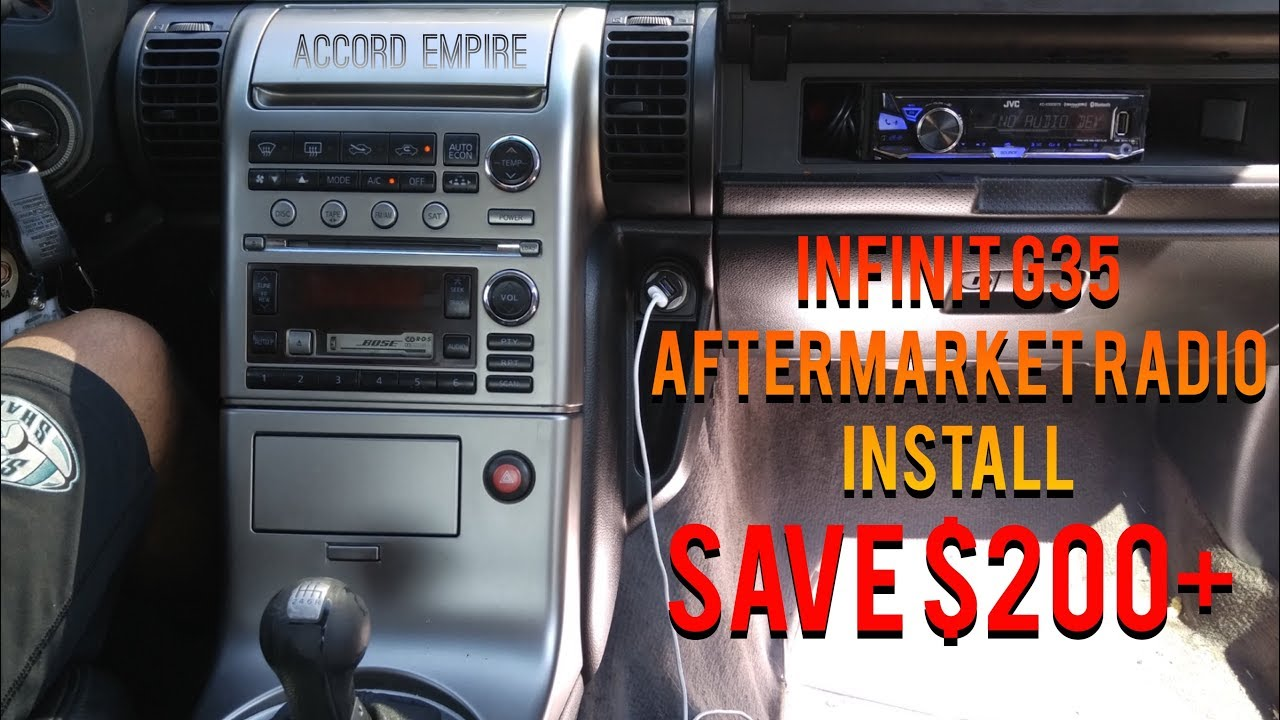 How To Install Aftermarket Radio On Infiniti G35 Without Ing Expensive Dash Kit Diy