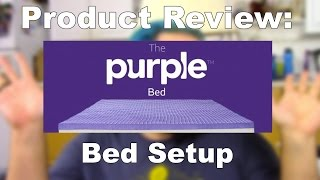 Purple Mattress (queen Size) Setup, First Impression!!!!