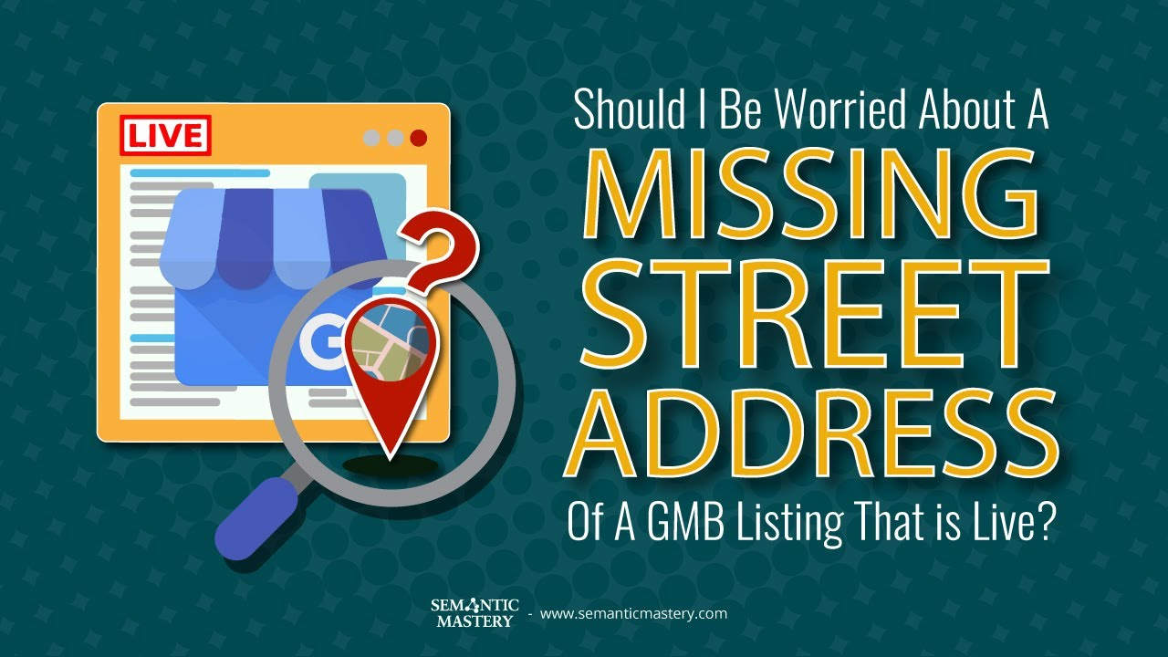 should you take actions or just ignore a missing street address of a