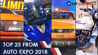 Top 25 Cars And Bikes From The #AutoExpo2018 | NDTV carandbike