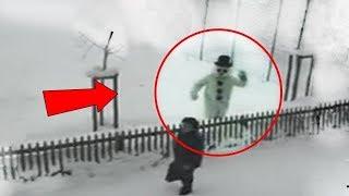 10 Schneemann Kreaturen die an Weihnachten aufgetaucht sind!