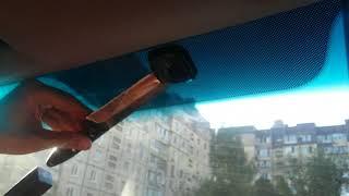 Как снять крепление зеркала с лобового стекла