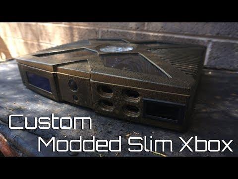 My Modded Xbox Custom slim case