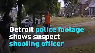 Detroit police footage shows suspect shooting officer