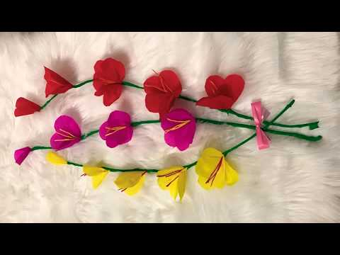 Easy paper orchid flower/DIY flowers