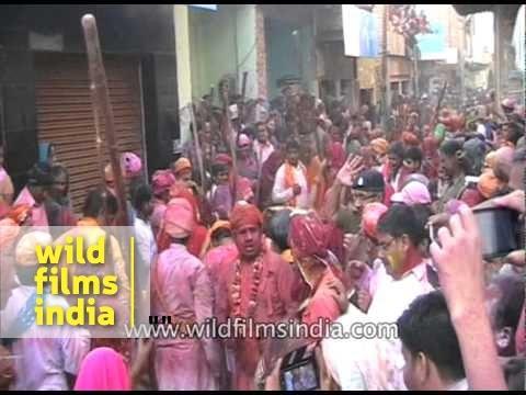 Lathmaar Holi - celebration of the Hindu festival of Holi