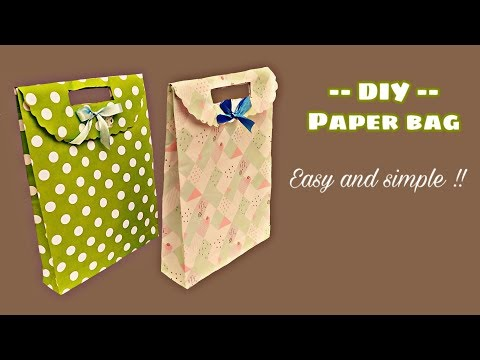 How to make paper bag at home , paper bag , paper shopping bag, paper art and craft ideas Handmade t.