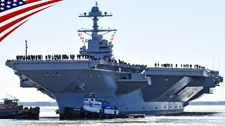 1.4兆円の新型超大型空母ジェラルド・R・フォードが初めて自力航行で海上公試を行う thumbnail