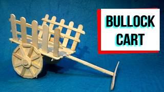 Bullock Cart made of ice cream sticks | Popsicle sticks art | ice cream craft | Easy crafts