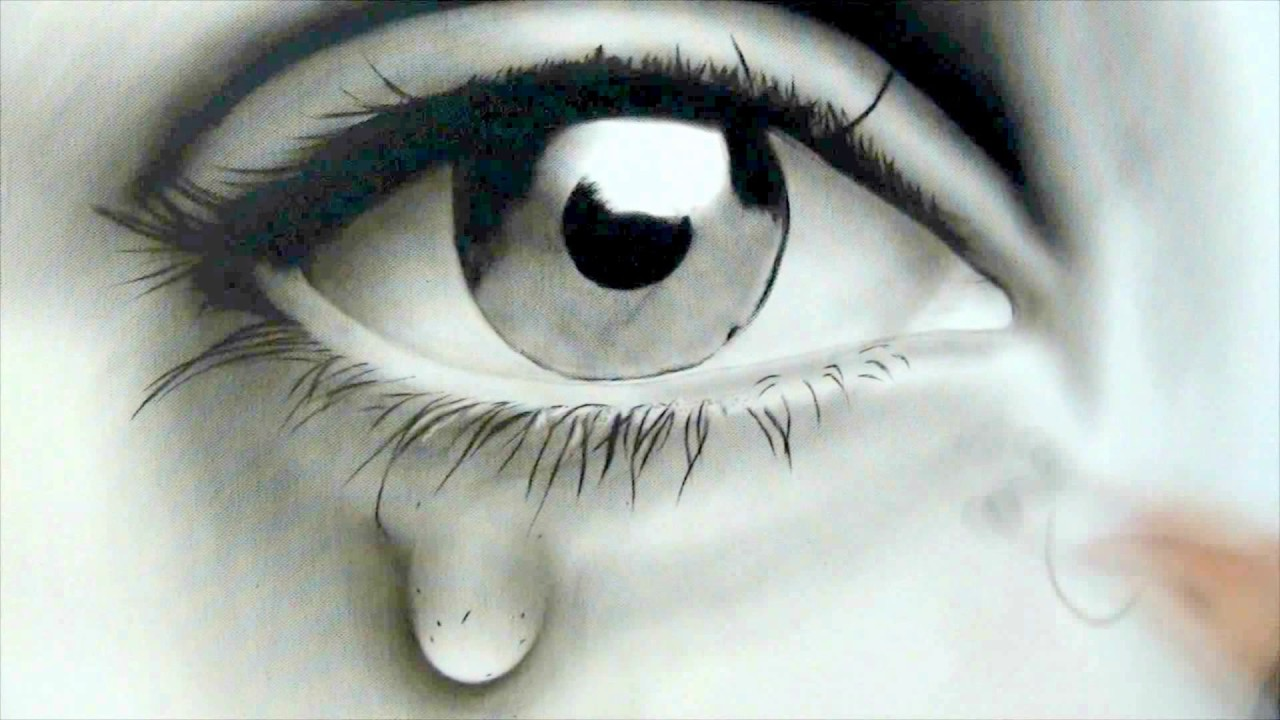 How To Draw A Sad Eye Youtube