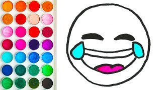 Drawings with Emoji Laugh for Kids, Easy Drawing for Baby