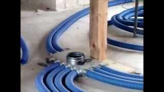 Montaż systemu elastycznych kanałów wentylacyjnych - Ventiflex