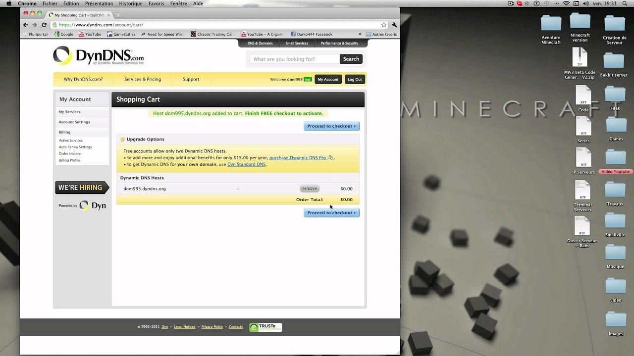 Changer Le Nom Ip D Un Serveur Minecraft Youtube