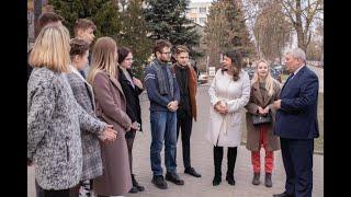 Вопросы благоустройства обсудили студенты с председателем Гродненского горисполкома Мечиславом Гоем