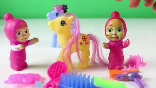 Maşa Kuaför Oldu Poly'nin Saçlarını Yapıyor Maşa İzle Maşa ile Koca Ayı