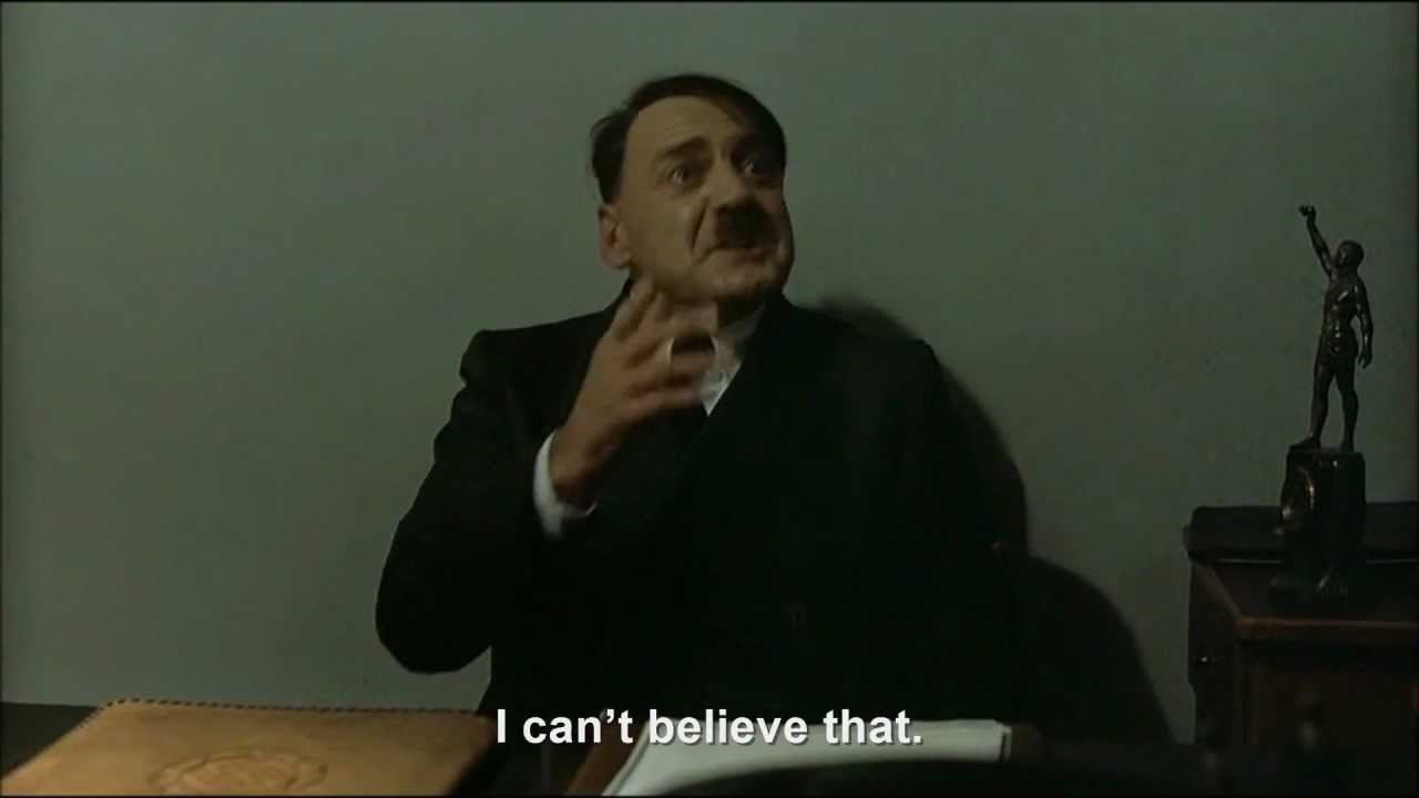 Hitler is informed about a TV show on Downfall Parodies