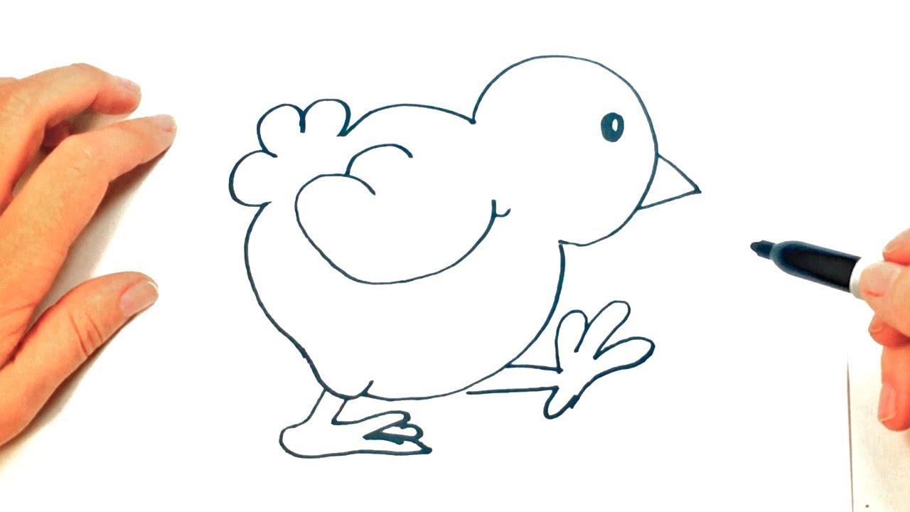 Como Dibujar Un Pollito Dibujar Animales Para Ninos Youtube