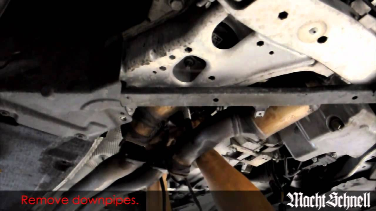 Macht Schnell N54 Catless Track Downpipes Installation